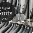 Elegant suits jacket in apparel store — Stock Photo