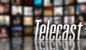 Telecast concept LCD TV panels — Stock Photo