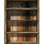 3d empty grunge wood shelf — Stock Photo #9957990