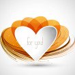 Heart colorful shape Valentine day Vector — 图库矢量图片