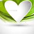 Royalty-Free Stock Vector Image: Heart green colorful shape Valentine day Vector