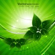 Abstract bright Vector natural eco green lives - Stock Vector