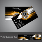 Abstract stylish black bright colorful business card music vecto — Stock Vector