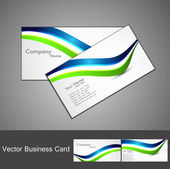 Abstract stylish colorful wave business card set design — Stock Vector