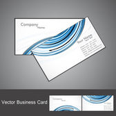 Abstract stylish bright colorful business card wave vector — Stock Vector