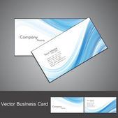 Abstract blue colorful wave business card set — Stock Vector