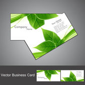 Abstract green lives colorful stylish business card set vector — Stock Vector