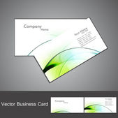 Abstract green shiny colorful wave marketing business card set — Stock Vector