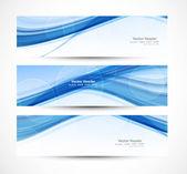 Abstract header blue wave technology vector — Stock Vector