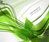 Abstract vector natürliche eco grün leben linie wave — Stockvektor