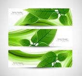Abstract Vector Natural eco green lives header vector — Stock Vector