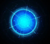 Abstract circle blue shiny technology vector — Stock Vector