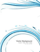 Abstract colorfull business blue line wave vector — Vector de stock