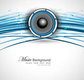 Abstract Speakers blue line wave background vector — Stock Vector