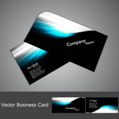 Abstract stylish black bright colorful business card wave vector — Stock Vector