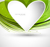 Heart green colorful shape Valentine day Vector — ストックベクタ