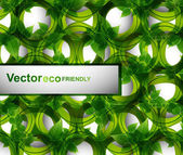 Abstract eco bright green lives circle vector design — Stok Vektör