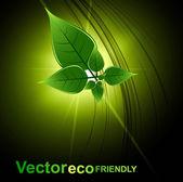 Abstract bright Vector natural eco green lives design — Stock Vector