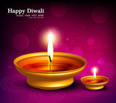 Abstract beautiful illuminating Diya background festival hindu D — Stock Vector