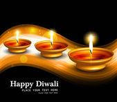Happy diwali Beautiful illuminating diya colorful hindu festival — Stock Vector
