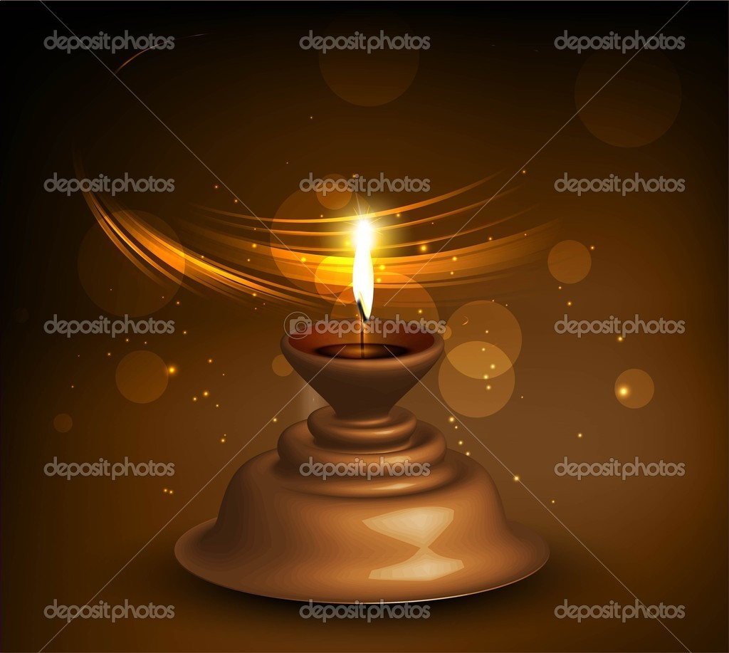Happy diwali Beautiful illuminating diya bright colorful  hindu festival  — Stock Vector #12846259