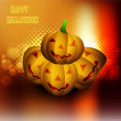 Stock Vector: Halloween pumpkins Party vector illustration