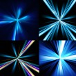 Abstract shiny set of ray blue colorful backgrounds vector — Stock Vector