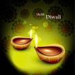 Happy diwali beautiful glowing diya background vector — Stock Vector
