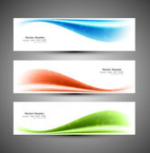 Header blue vector colorful wave background — Stock Vector