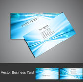 Abstract blue colorful stylish circle wave business card set — Stock Vector