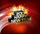2013 Happy new year reflection celebration colorful background v — Stock Vector