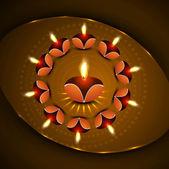 Illustrazione vettoriale colorato di diwali diya celebrazione — Vettoriale Stock