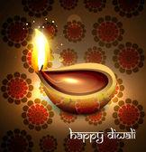 Beautiful hindu diwali festival vector background illustration — Stock Vector