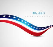Amerikanska flaggan 4 juli amerikanska självständighetsdagen — Stockvektor