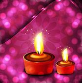 Happy Diwali Beautiful illuminating diya background vector — Stock Vector