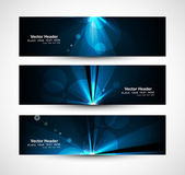Abstract bright rays colorful header wave set vector — Stock Vector