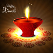 Happy diwali diya hindu festival vector design — ベクター素材ストック