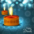 Beautiful happy diwali diya bright blue colorful hindu festival — ベクター素材ストック