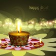 Happy diwali diya bright colorful hindu festival vector backgrou — ベクター素材ストック