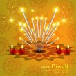 Happy diwali  festival crackers bright colorful background vecto — ベクター素材ストック