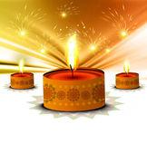 Happy diwali beautiful card background — Stock Vector