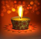 Beautiful happy diwali Greeting card vector background illustrat — Stock Vector