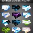 Abstract Various 12 Business Card set bright collection vector - Stock Vector