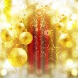 Royalty-Free Stock Векторное изображение: Merry christmas background card colorful balls vector