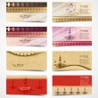 Business card set collection happy diwali colorful presentation  — Imagen vectorial