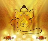 Beautiful Artistic colorful Hindu Lord Ganesha vector design — Stock Vector