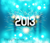 Happy new year 2013 shiny blue colorful celebration vector — Stock Vector