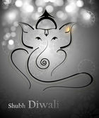 Beautiful Artistic gray colorful Hindu Lord Ganesha vector desig — Stock Vector