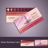 Happy diwali business card set colorful vector — Stock Vector