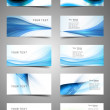 Abstract Various Business Card set collection wave design vector — Stock Vector #14894299